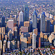 Center City Aerial Photograph Skyline Philadelphia Pennsylvania 19103 Art Print