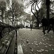 Central Park Bench Art Print
