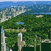 Central Park Color 6 Art Print