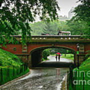 Central Park In The Rain Art Print
