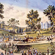 Central Park, The Grand Drive Art Print