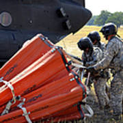 Ch-47 Chinook Helicopter Crew Prepare Art Print