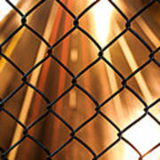 Chain-link And Light Lines Art Print