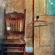 Chair By Open Door Art Print