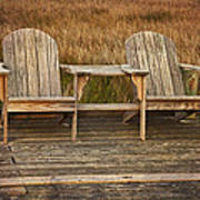 Wooden Chairs Art Print