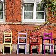 Chairs At Hamlyn Art Print