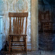 Chairs In Rundown House Art Print