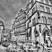 Chairs In The Square Art Print