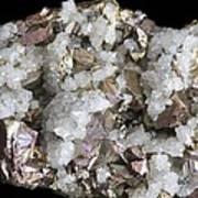 Chalcopyrite And Quartz Crystals Art Print