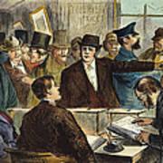 Challenging A Voter, 1872 Art Print