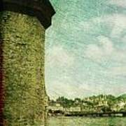Chapel Bridge Tower In Lucerne Switzerland Art Print