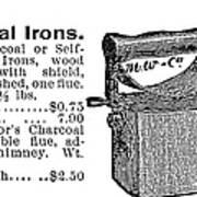 Charcoal Iron, 1895 Art Print