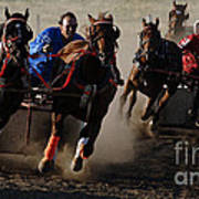 Rodeo Chariot Race Art Print