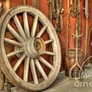 Chariot Wheel Art Print