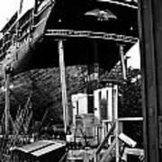 Charles W Morgan Hays  And Ros Clark Ship-lift  Art Print