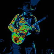 Playing Psychedelic Blues At Winterland In 1975 Art Print