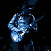 Playing The Blues At Winterland In 1975 Art Print
