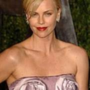 Charlize Theron Wearing A Dior Haute Art Print by Everett