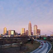 Charlotte Skyline At Sunrise Art Print by Jeremy Woodhouse