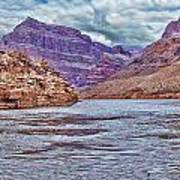 Charting The  Mighty Colorado River Art Print