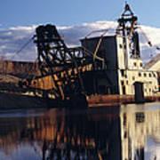 Chatanika Gold Dredge, Alaska Art Print