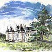 Chateau De Chaumont In France Art Print