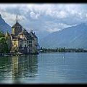 Chateau De Chillon Print by Matthew Green