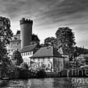 Chateau On The Lake At Annecy Art Print
