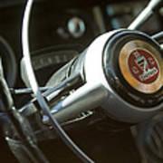 Checker Taxi Cab Steering Wheel Art Print