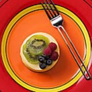 Cheesecake On Plate Art Print