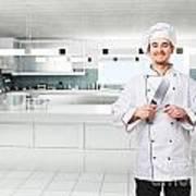 Chef On Duty Art Print