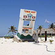 Chen Rio Beach Bar Cozumel Mexico Art Print