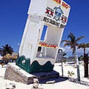 Chen Rio Beach Bar Sign Cozumel Mexico Art Print