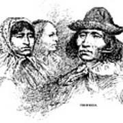 Cherokee Tribe. Engraved Portraits Art Print by Everett