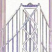 Chesapeake Bridge Between The Lines Art Print