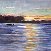 Chesapeake Dusk Boat Ride Art Print