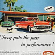 Chevrolet Ad, 1957 Art Print