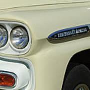Chevrolet Apache 31 Fleetline Headlight Emblem Art Print