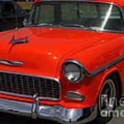 Chevrolet Bel-air Stationwagon . Orange . 7d15268 Art Print