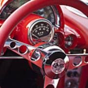 Chevrolet Corvette Steering Wheel Art Print