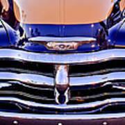 Chevrolet Pickup Truck Grille Emblem Art Print