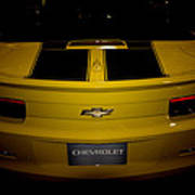 Chevy Camaro Covertible Rs Tail Art Print