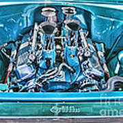Chevy Engine Hdr Art Print