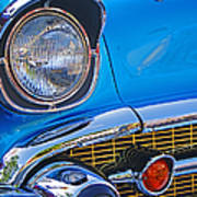Chevy Headlight Art Print