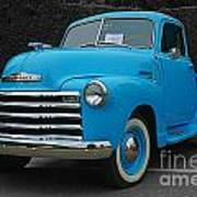 Chevy Pick-up With Bw Background Art Print