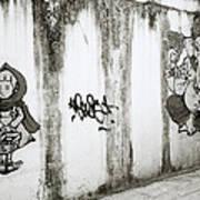 Chiang Mai Graffiti Art Print