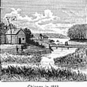 Chicago, 1833 Art Print