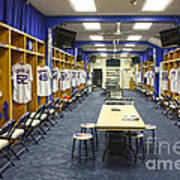 Chicago Cubs Dressing Room Art Print by David Bearden