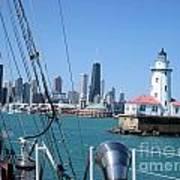 Chicago Harbor Lighthouse Art Print
