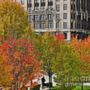 Chicago In Autumn Art Print